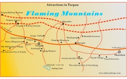 Turpan Attractions Map