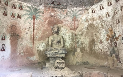Private Day Tour to Bingling Temple Caves from Lanzhou