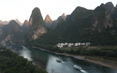 Half Day Private Tour to Xianggong Mountains and Tea Plantation from Yangshuo
